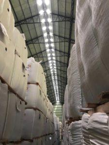 Armazenamento de grãos em sacas
