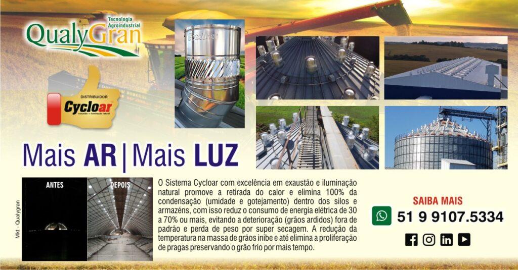 Qualygran Mais ar Mais luz para silos de armazenagem